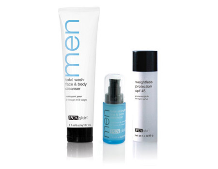 Skin Care Solution For Men Kit By Pca Skin 3 Products Senza Pelo